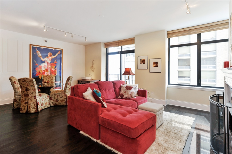 Real Estate Photography - 1122 N Dearborn, Unit 10D, Chicago, IL, 60610 - Living Room / Dining Room