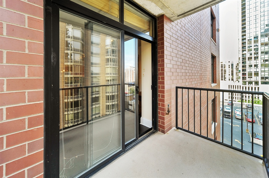 Real Estate Photography - 1122 N Dearborn, Unit 10D, Chicago, IL, 60610 - Balcony