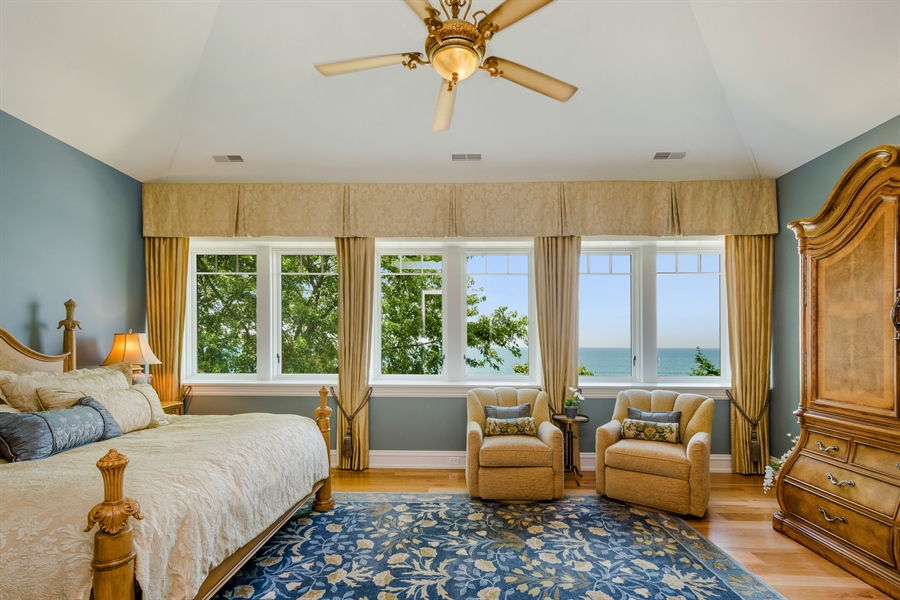 Real Estate Photography - 5750 Dunham Path, Stevensville, MI, 49127 - Upper Level Master Bedroom Suite