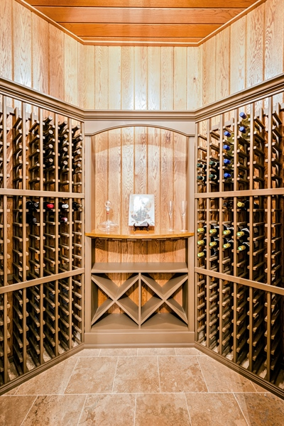 Real Estate Photography - 5750 Dunham Path, Stevensville, MI, 49127 - Wine Cellar