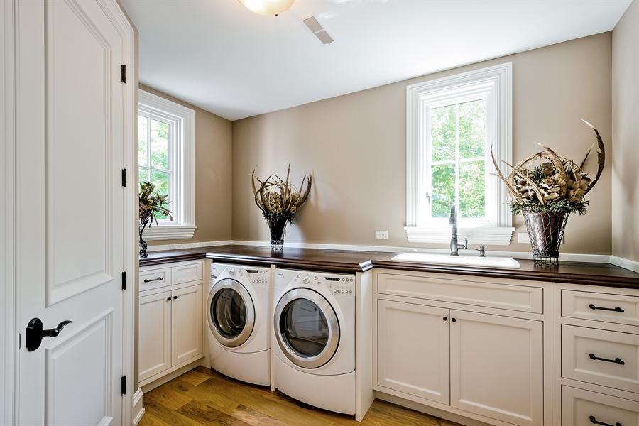 Real Estate Photography - 5750 Dunham Path, Stevensville, MI, 49127 - Upper Level Laundry