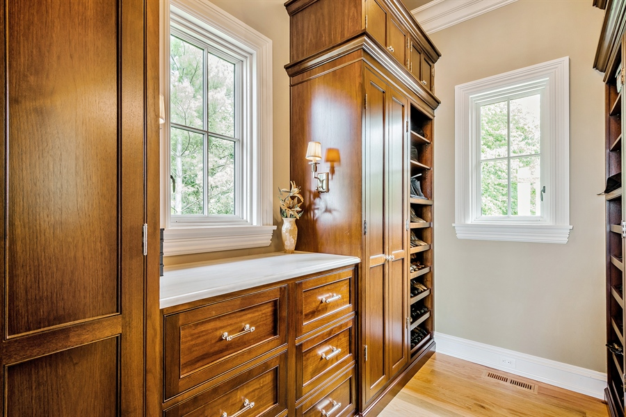 Real Estate Photography - 5750 Dunham Path, Stevensville, MI, 49127 - Master Bedroom Closet (Hers)
