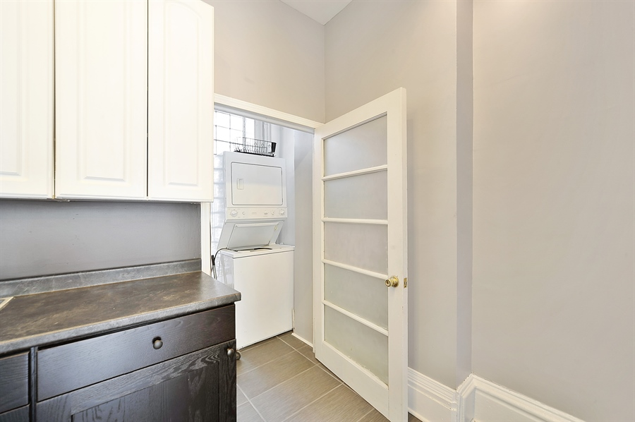 Real Estate Photography - 2310 W Monroe, Unit 2, Chicago, IL, 60612 - Laundry Room