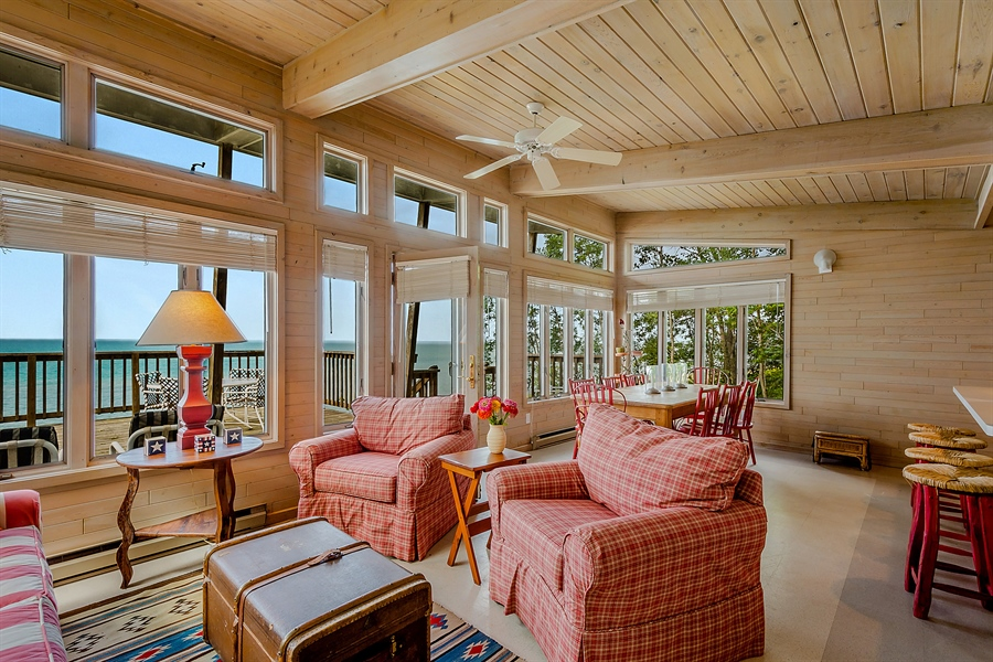 Real Estate Photography - 13274 Ravine Road, Harbert, MI, 49115 - Beach House Living Room