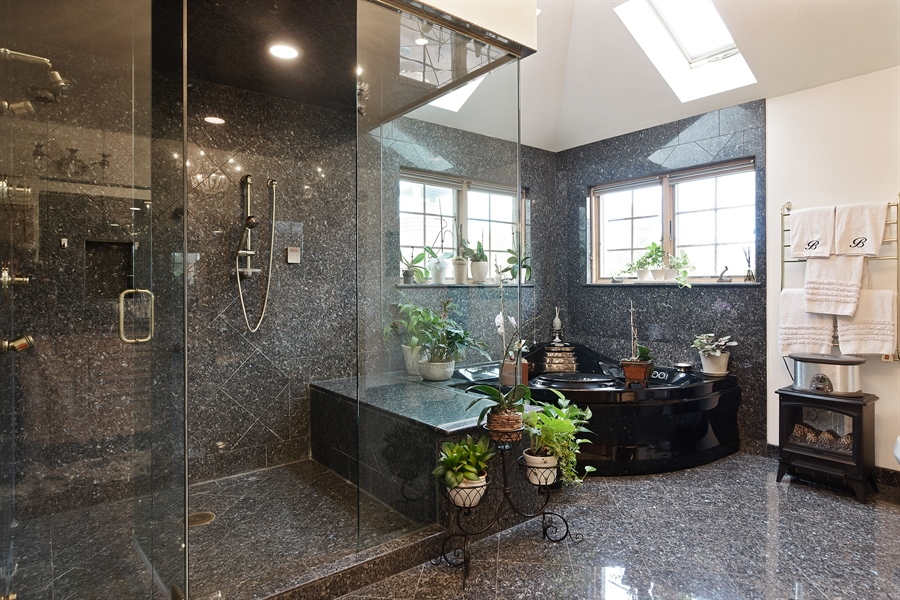 Real Estate Photography - 4508 W. Bryn Mawr, Chicago, IL, 60646 - Master Bathroom