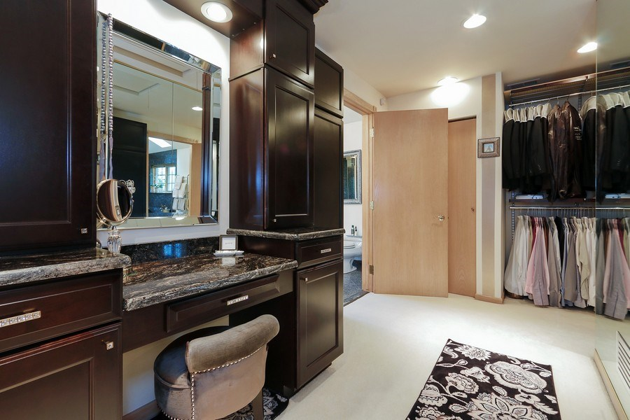 Real Estate Photography - 4508 W. Bryn Mawr, Chicago, IL, 60646 - Master Bedroom Closet