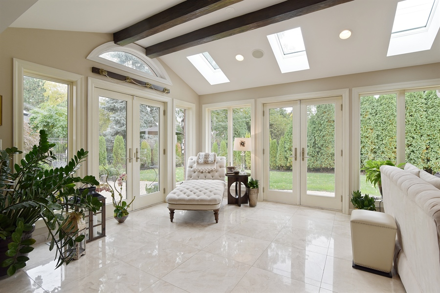 Real Estate Photography - 4508 W. Bryn Mawr, Chicago, IL, 60646 - Sun Room