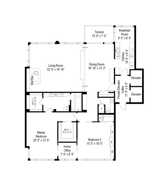1300 n lake shore dr 14d chicago il 60610 virtual for 1400 n lake shore drive floor plans