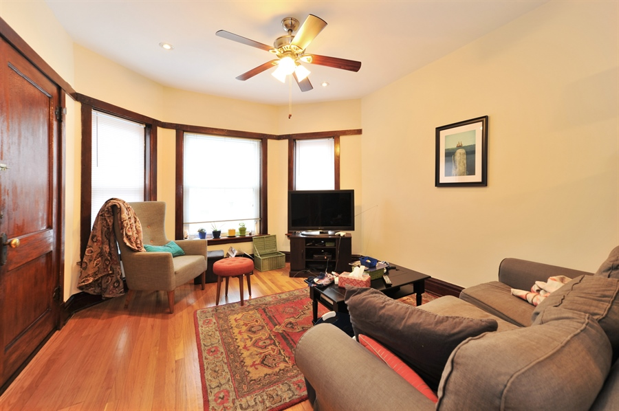 Real Estate Photography - 4438 N Hamlin, Chicago, IL, 60625 - Living Room