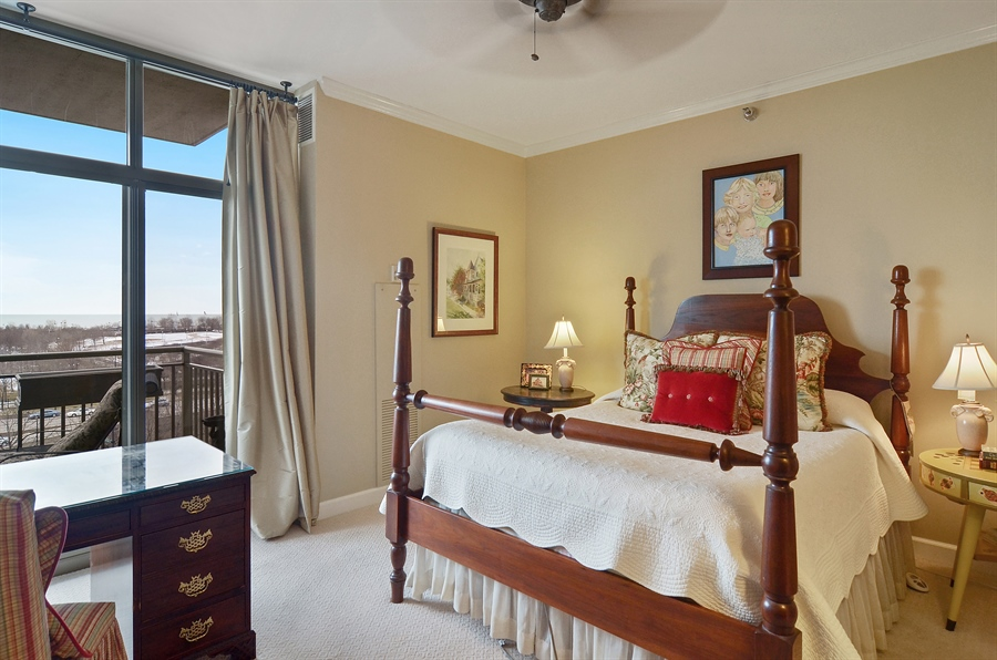 Real Estate Photography - 1335 South Prairie, 901, Chicago, IL, 60605 - Master Bedroom