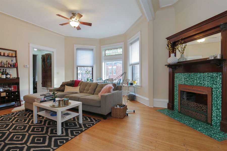 Real Estate Photography - 1036 N Hoyne Ave, Chicago, IL, 60622 - #2 Rental Living Room