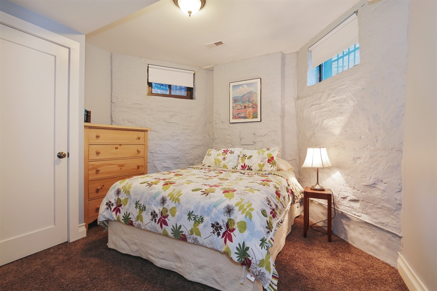 Real Estate Photography - 1036 N Hoyne Ave, Chicago, IL, 60622 - Lower Level Bedroom (#7)
