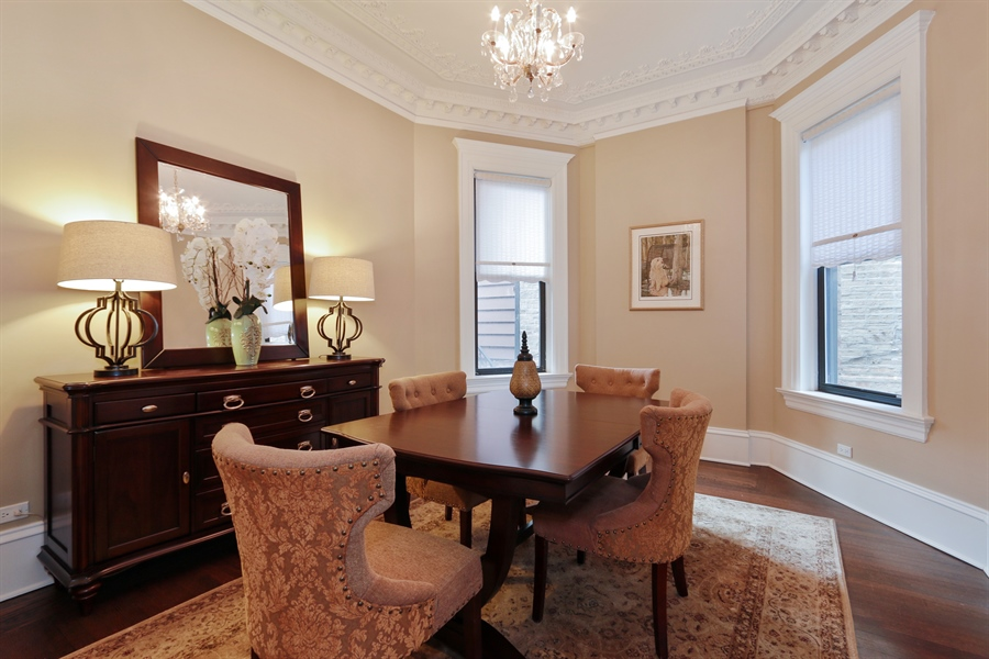 Real Estate Photography - 1036 N Hoyne Ave, Chicago, IL, 60622 - Dining Room