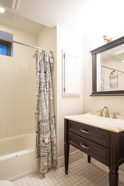 Real Estate Photography - 1036 N Hoyne Ave, Chicago, IL, 60622 - Lower Level Bathroom