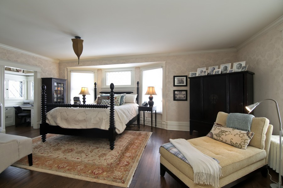Real Estate Photography - 1236 Hinman Ave, Evanston, IL, 60201 - Master Bedroom