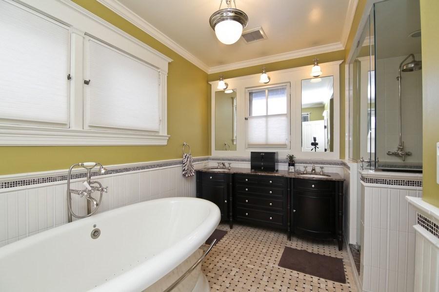 Real Estate Photography - 1236 Hinman Ave, Evanston, IL, 60201 - Master Bathroom