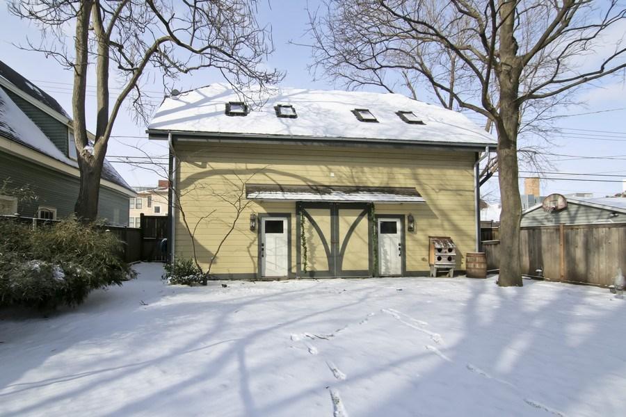 Real Estate Photography - 1236 Hinman Ave, Evanston, IL, 60201 - Backyard and Barn