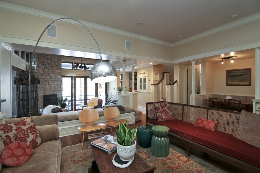 Real Estate Photography - 1236 Hinman Ave, Evanston, IL, 60201 - Family Room