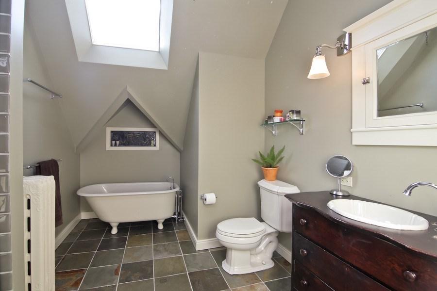 Real Estate Photography - 1236 Hinman Ave, Evanston, IL, 60201 - 3rd Floor Bath