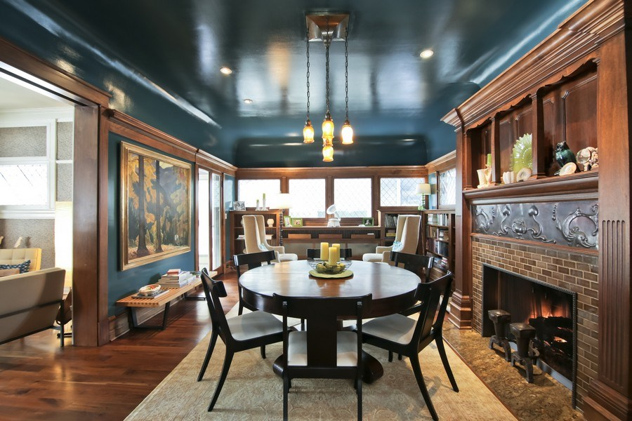 Real Estate Photography - 1236 Hinman Ave, Evanston, IL, 60201 - Dining Room