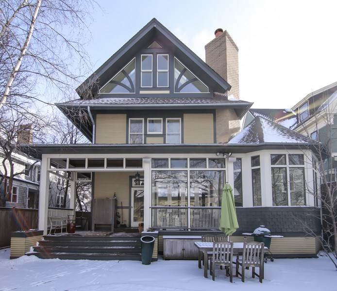 Real Estate Photography - 1236 Hinman Ave, Evanston, IL, 60201 - Rear View