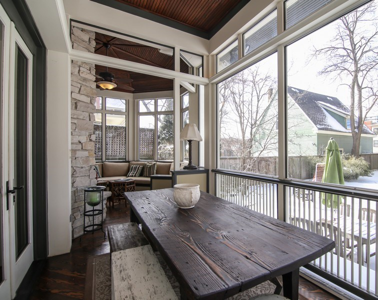 Real Estate Photography - 1236 Hinman Ave, Evanston, IL, 60201 - Back Screened-In Porch