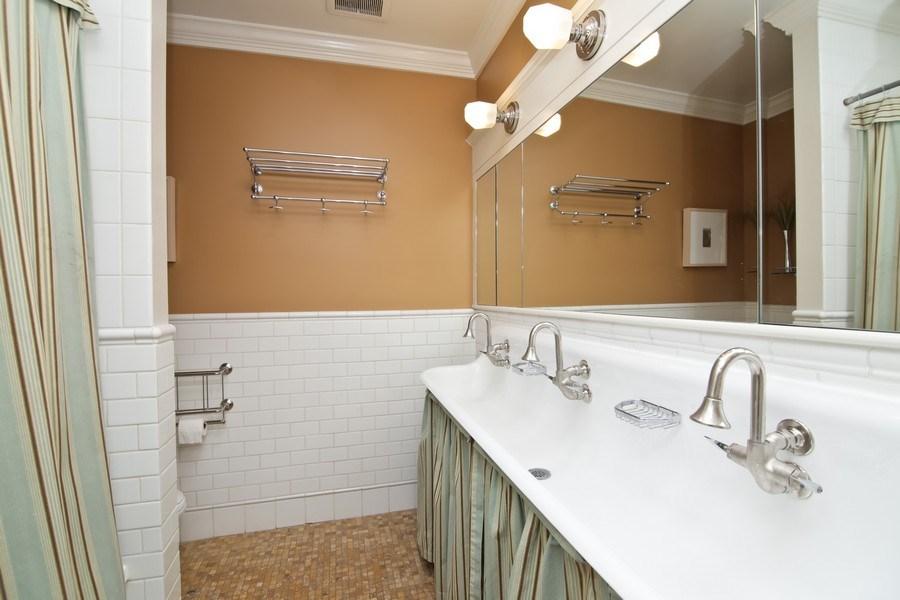 Real Estate Photography - 1236 Hinman Ave, Evanston, IL, 60201 - 2nd Floor Hallway Bathroom