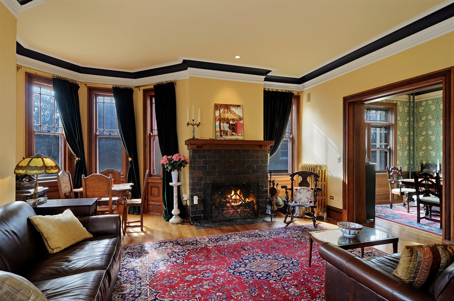 Real Estate Photography - 1828 Asbury Ave, Evanston, IL, 60201 - Living Room