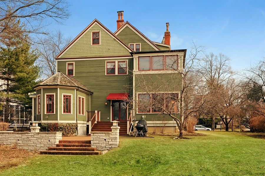 Real Estate Photography - 1828 Asbury Ave, Evanston, IL, 60201 - Rear View