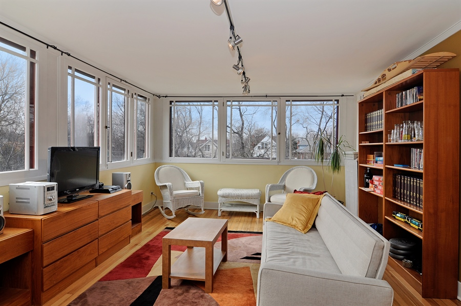 Real Estate Photography - 1828 Asbury Ave, Evanston, IL, 60201 - Rec Room