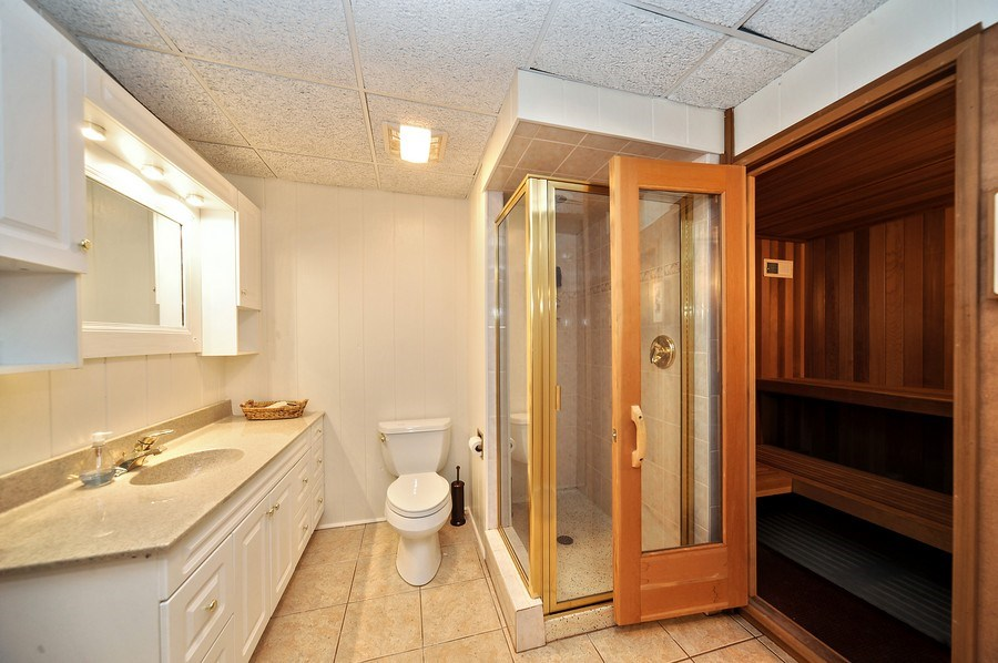 Real Estate Photography - 1071 E Bonner, Wauconda, IL, 60084 - 3rd Bathroom/Sauna