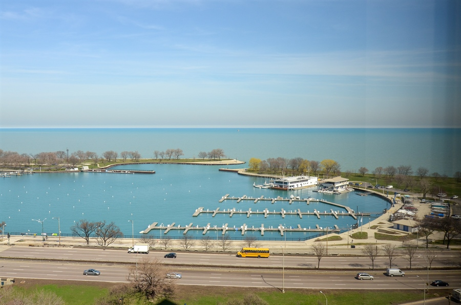 Real Estate Photography - 3150 North Lake Shore Drive, 17F, Chicago, IL, 60657 - View