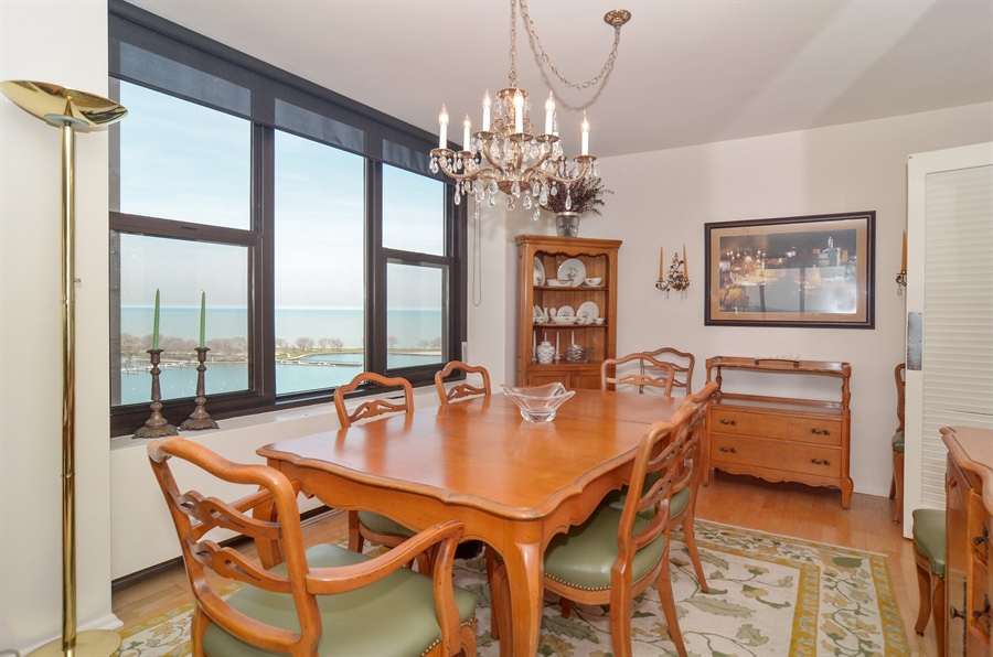 Real Estate Photography - 3150 North Lake Shore Drive, 17F, Chicago, IL, 60657 - Dining Room