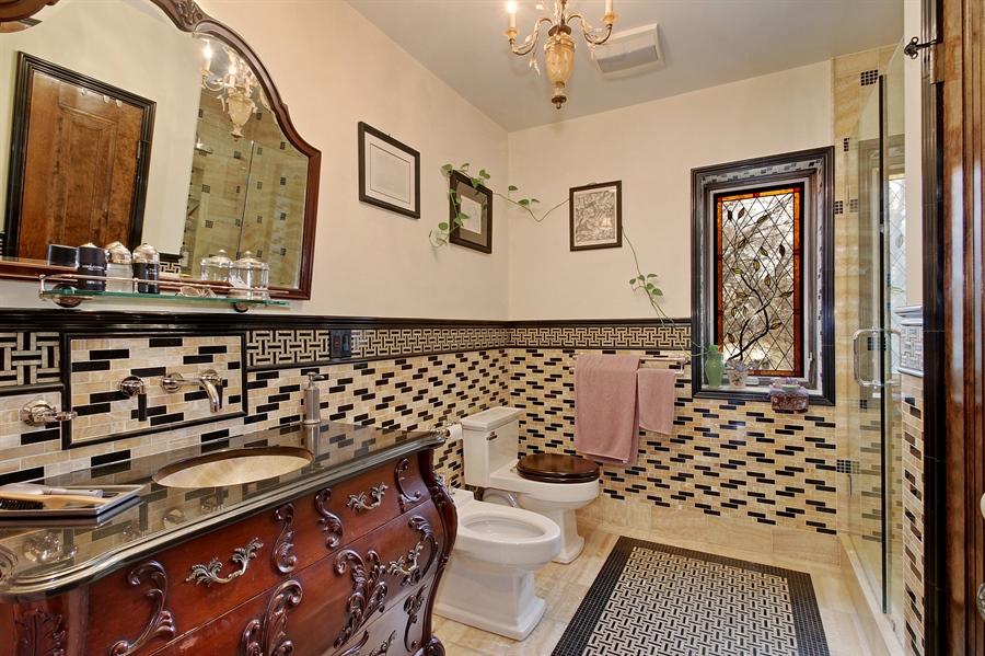 Real Estate Photography - 6087 N Kirkwood, Chicago, IL, 60646 - Master Bathroom