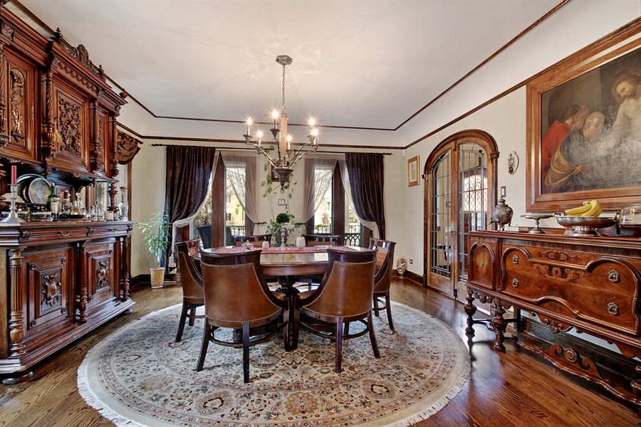 Real Estate Photography - 6087 N Kirkwood, Chicago, IL, 60646 - Dining Room