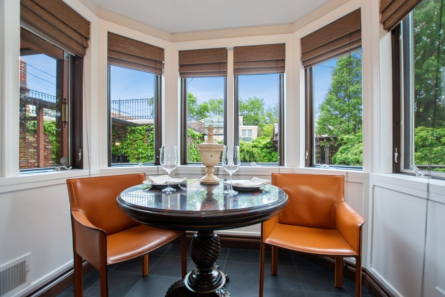 Real Estate Photography - 6087 N Kirkwood, Chicago, IL, 60646 - Breakfast Nook
