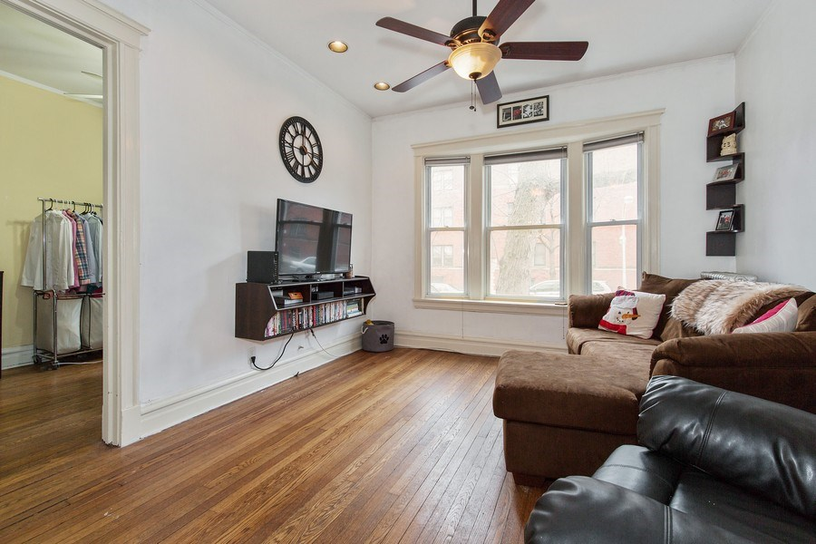 Real Estate Photography - 1341 W Waveland Ave, Unit 1 E, Chicago, IL, 60613 - Living Room