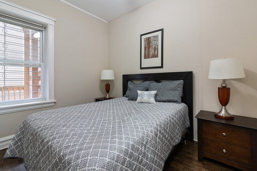 Real Estate Photography - 1341 W Waveland Ave, Unit 1 E, Chicago, IL, 60613 - 2nd Bedroom