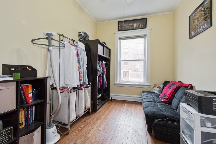 Real Estate Photography - 1341 W Waveland Ave, Unit 1 E, Chicago, IL, 60613 - 3rd Bedroom