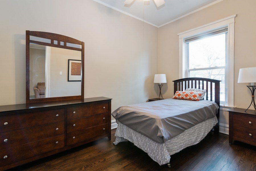 Real Estate Photography - 1341 W Waveland Ave, Unit 1 E, Chicago, IL, 60613 - Bedroom