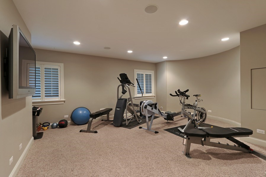 Real Estate Photography - 597 Golf Ln, Lake Forest, IL, 60045 - Exercise Room