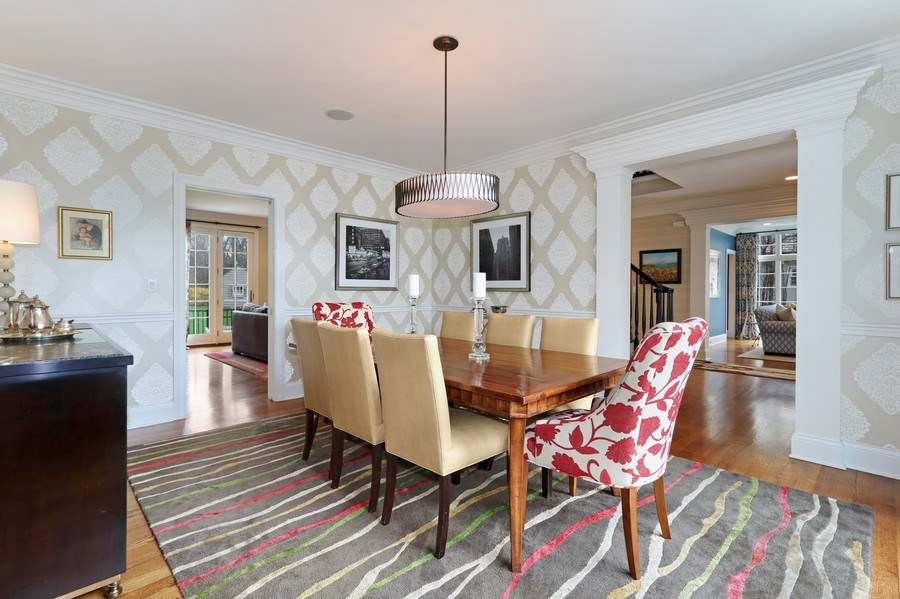 Real Estate Photography - 597 Golf Ln, Lake Forest, IL, 60045 - Dining Room