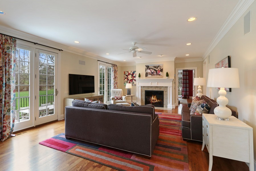 Real Estate Photography - 597 Golf Ln, Lake Forest, IL, 60045 - Family Room