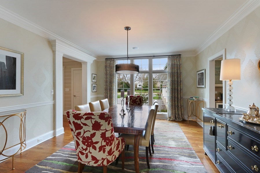 Real Estate Photography - 597 Golf Ln, Lake Forest, IL, 60045 - Dining Area