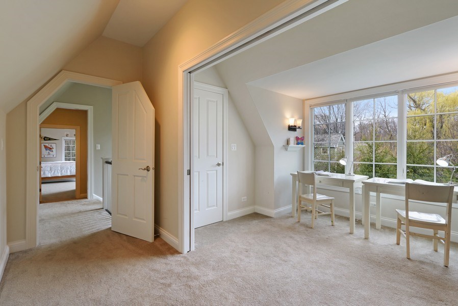 Real Estate Photography - 597 Golf Ln, Lake Forest, IL, 60045 - Study