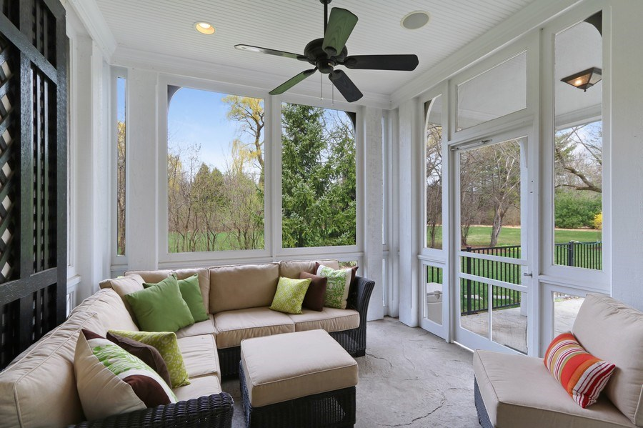 Real Estate Photography - 597 Golf Ln, Lake Forest, IL, 60045 - Sun Room