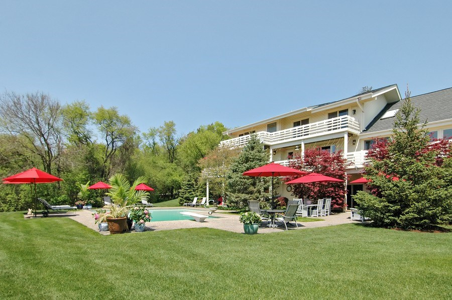 Real Estate Photography - 306 Ridge Rd, Barrington Hills, IL, 60010 - Rear View