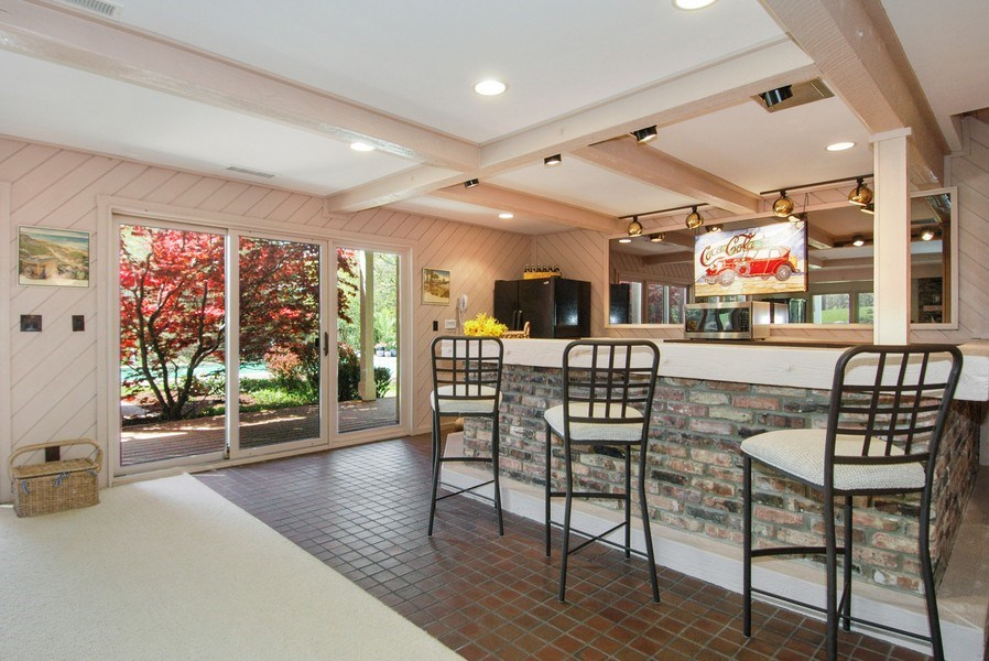 Real Estate Photography - 306 Ridge Rd, Barrington Hills, IL, 60010 - Walkout Second Kitchen/Bar