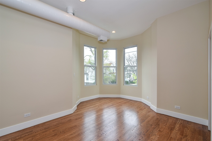 Real Estate Photography - 3659 W Shakespeare, Chicago, IL, 60647 - Living Room