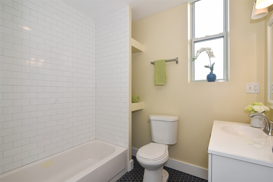 Real Estate Photography - 3659 W Shakespeare, Chicago, IL, 60647 - 3rd Bathroom